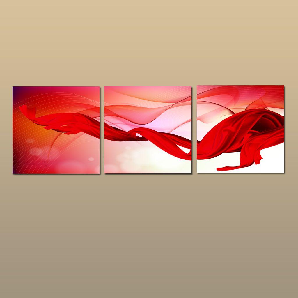 Eingerahmt / Unframed Großes moderne Wand-Kunst-Leinwand Giclée-Druck Malerei Abstrakt Bild Dekor 3 Stück Sets Heim Schlafzimmer Wohnzimmer Dekor abc05