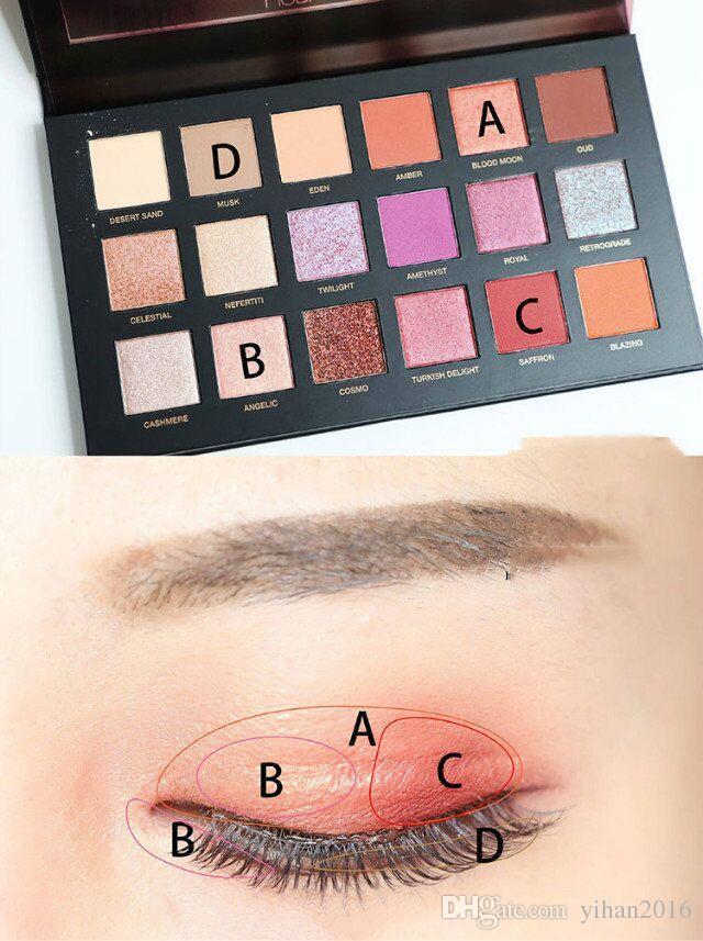 최고의 브랜드 도매! 유명한 사막의 아이 섀도우 팔레트 Shimmer Matte Eyeshadow 화장품 뷰티 팔레트 18 색 무료 배송