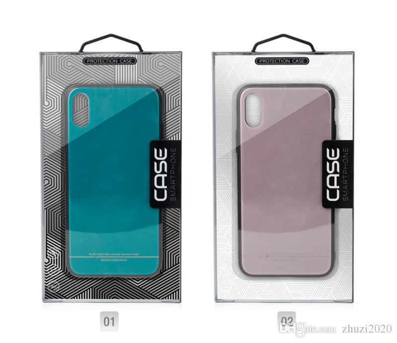 Universal-PVC Retail-Verpackung Verpackungsbehälter aus Kunststoff-Boxen mit Einsatz für Handy-Fall Samsung S8 S9 20 desgine