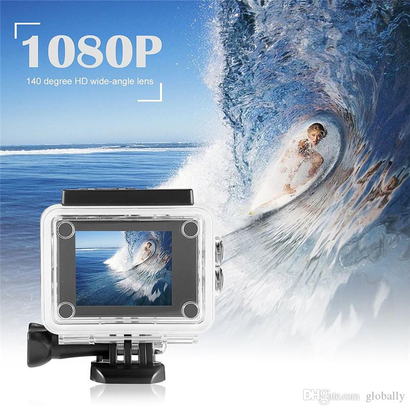 2 inch Full HD 1080P 12MP 140 degree Wide-angle 180 degree Rotating Waterproof Camera Camcorder 7 colors for choice