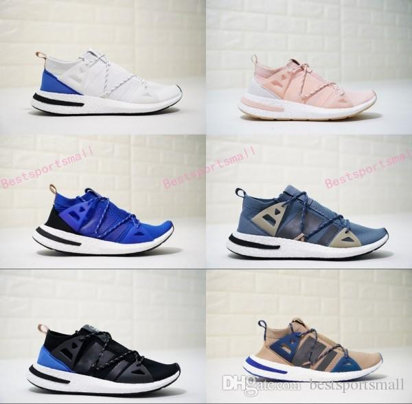 2018 New Arrival ARKYN Ash Pearl Primeknit TPU White Black Brown Deep Blue Running Shoes For Women Men Designer Size 36 44 Running Accessories Running