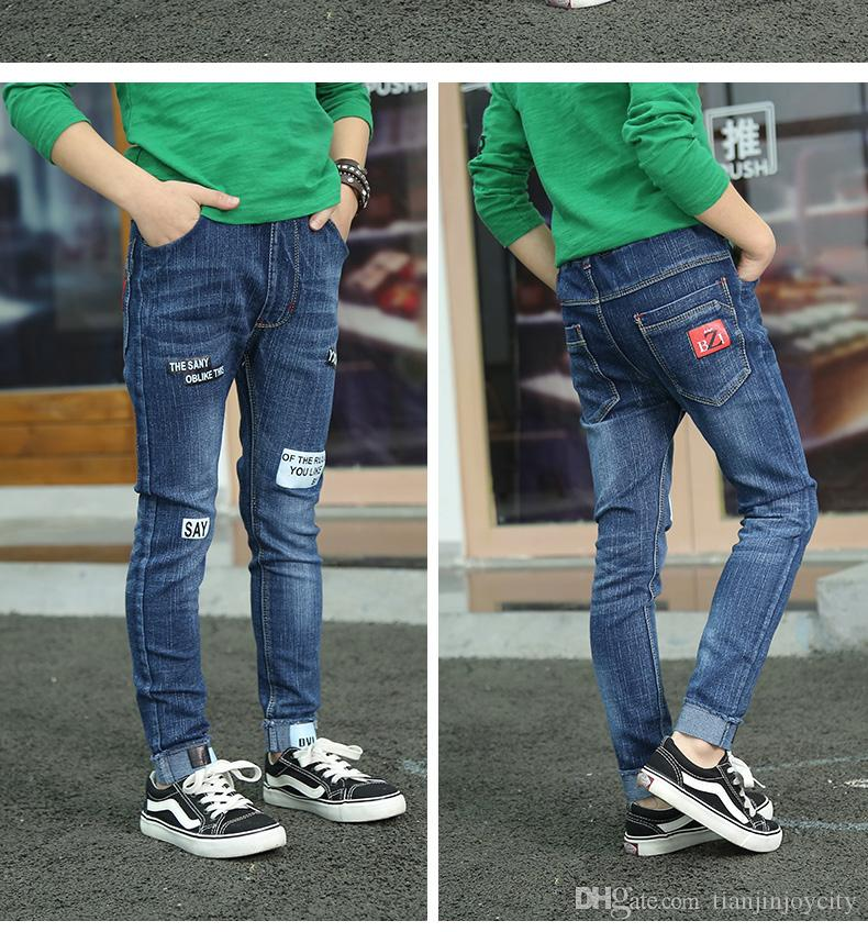 spring autumn children's children boys jeans solid thin denim baby boys jeans for boys causal jeans long trousers