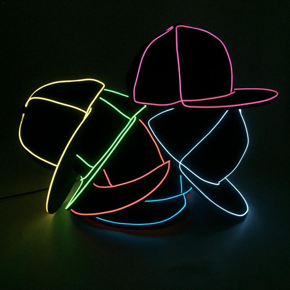 EL Flaş Kap Aydınlık Kap EL Tel LED Işık Glow Kostüm Partisi Aydınlık Kap Dans Performansları Bar Parti Hediyeler Atmosfer Sahne