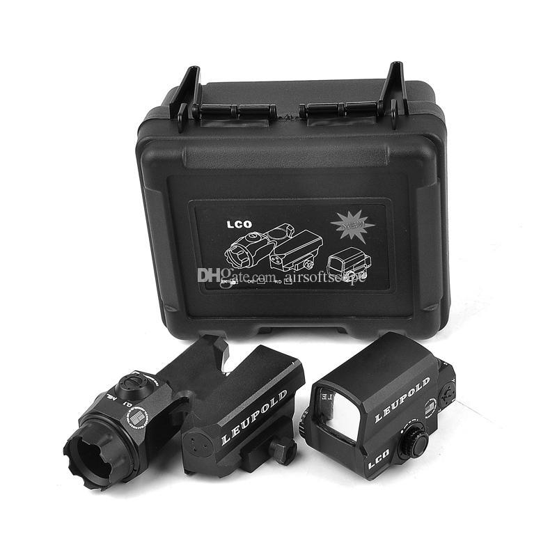 Leupold D-Evo Dual-Enhanced Optical Sight CMR-W-Reticle-Gewehr-Geltungsbereich mit LCO-roten Punkt-Anblick-holographischer Anblick schwarz rot Freies Verschiffen