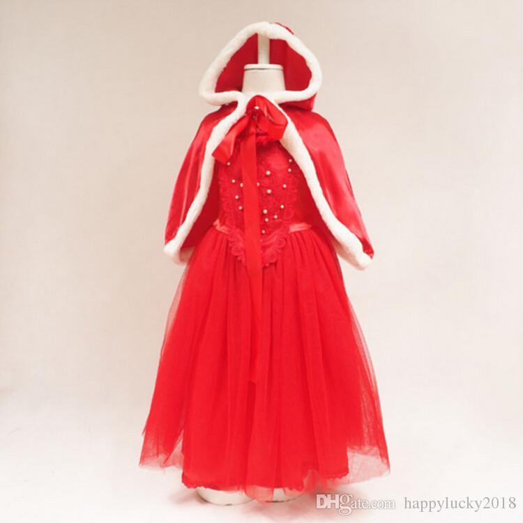 الجديدة عيد الميلاد فستان فتاة الجليد الرومانسية + غطاء شال اثنين من قطعة ثوب تنورة أوروبا وأمريكا