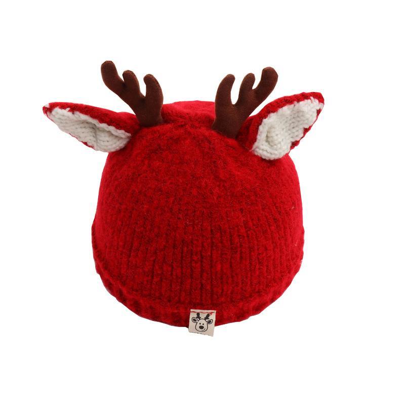 Bambini di stile di Natale cappelli infantili del cappello Nuovo Inverno del cappello del fumetto Ramificazione maglia ispessite cappello di moda tenere in caldo