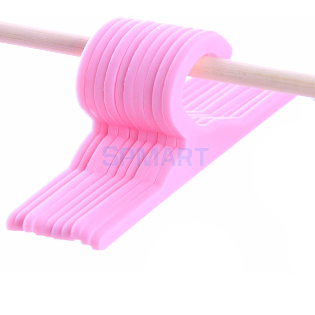 """10 Pink Plastic Outfit Hangers made for 18/"""" American Girl Doll Clothes"""