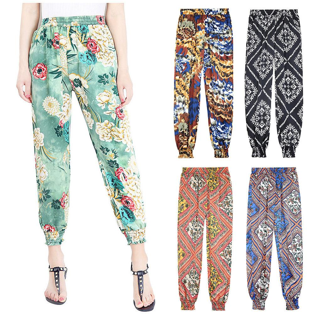 Compre Pantalones Harem Mujer Pantalones Nuevos Para Mujer Pantalones Harem Pantalones Con Estampado Floral Leggings A 8 06 Del Fashionwest Dhgate Com