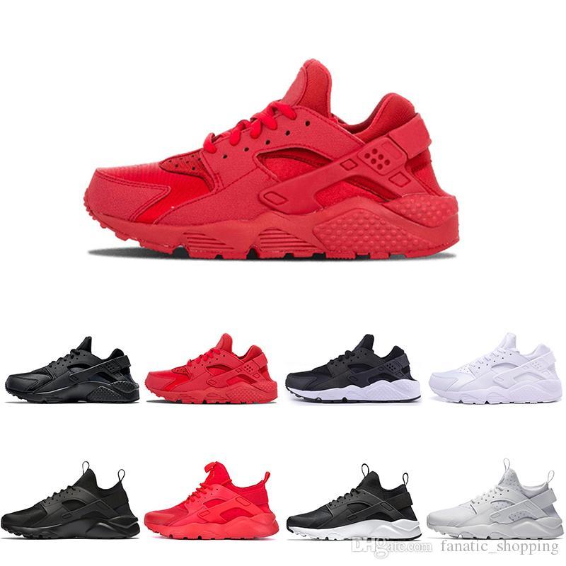 2018 جديد Huarache I IV أحذية الترا الاحذية ثلاثية أسود أبيض أحمر إمرأة huraches حذاء تنفس الأحذية الرياضية eur 36-45