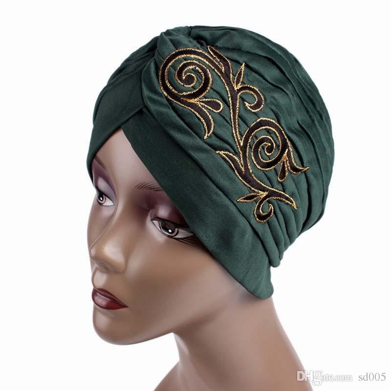 Retro musulmán Hijab sombrero de fibra de poliéster Señora multicolor elegante Ndia Cap prueba de viento ventana a prueba de polvo compras 4 5gf cc