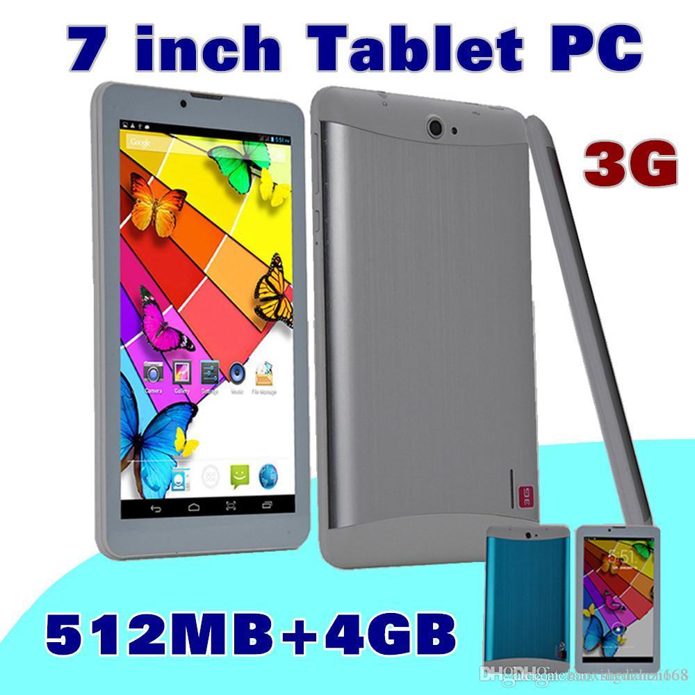 40X DHL SH 2015 cheap 7 inch 3G Phablet Android 4.4 MTK6572 Dual Core 4GB Dual SIM GPS Phone Call WIFI Tablet PC With Bluetooth EBOOK B-7PB