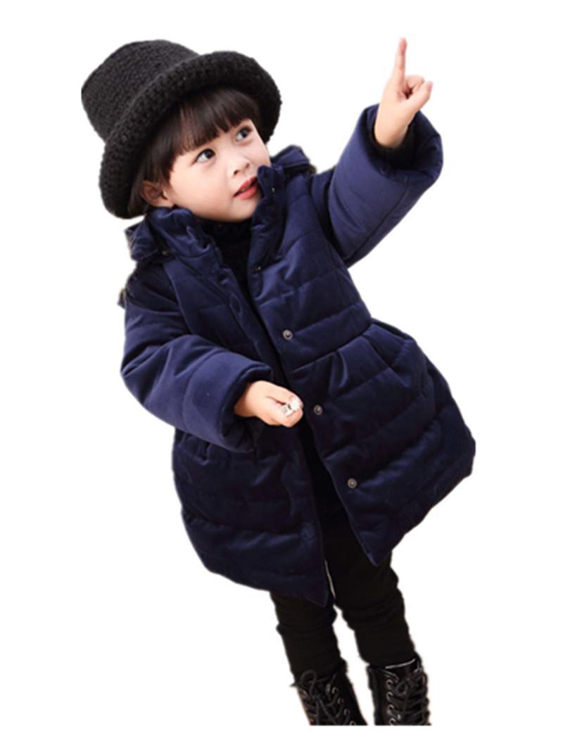 Baby Girls Winter Jacket For Girls Thicken Warm Coat Kids Warm Fur Hooded Outerwear Children Clothes Infant Girls Coat W60 Toddler Coats Girls Parka