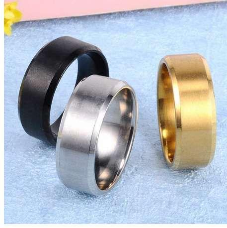 Металл из нержавеющей стали широкие кольца Спорт мужской простой мужчины серебро ювелирные изделия кольцо Глод лето Оптовая бизнес Titanium Boy подарок