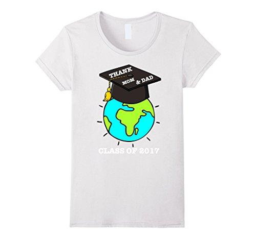 360162436 Women's Tee Thank Mom And Dad Graduation T Shirt Class Of 2017 Hot Sale  Fashion Women