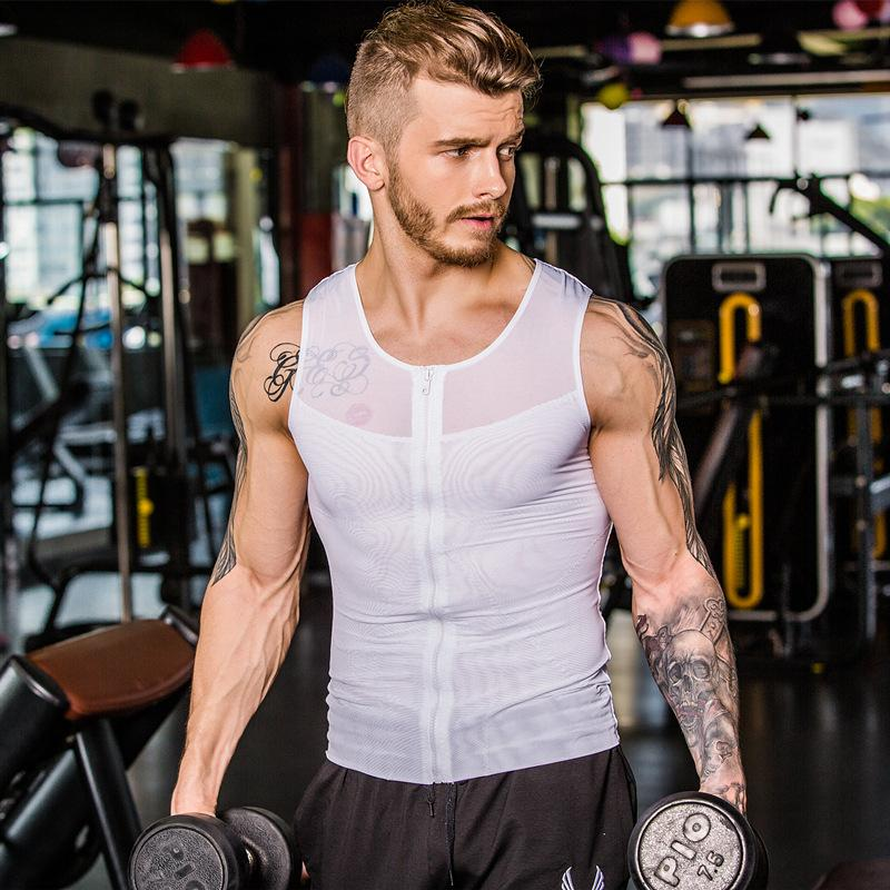 Men Slimming Fitness Vest Men Body Shaper Vest Man Waist Cincher Corset Body Slimming Tummy Belly Waist Slim Shapewear
