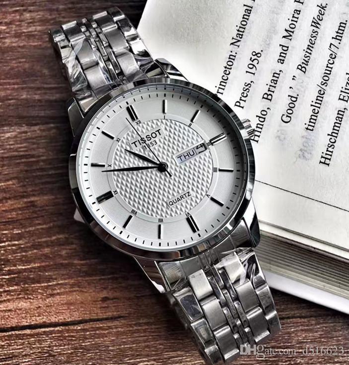 Großhandel Für Streifen Marke Relogio Stahl Heißer Klassische Berühmte Uhr Doppel 40mm Luxus Männer Mode Kalender Uhren Verkauf fY7yb6gIv