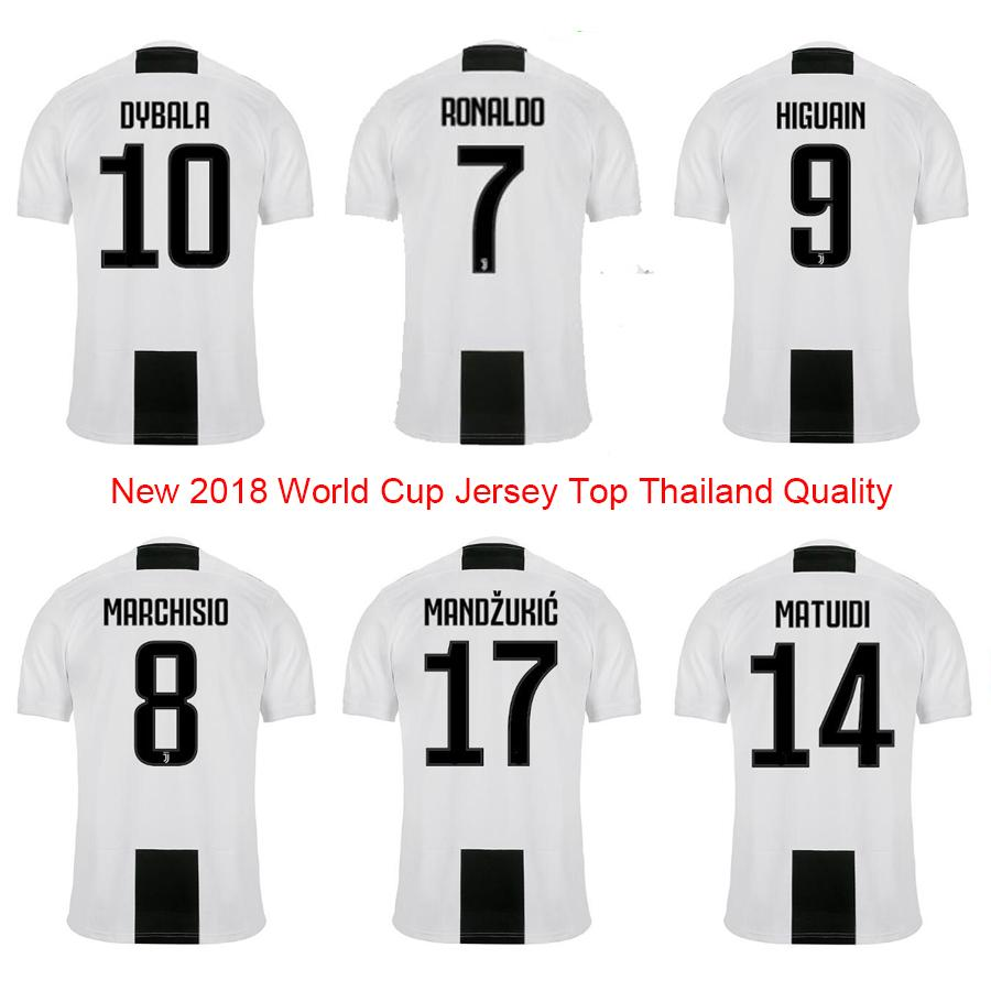 2020 2018 19 Top Thailand Best Quality Juve Zebra Home Ronaldo 7 Dybala 10 Higuain 9 Men Soccer Jersey Uniform Football Shirt Plus Size 4xl From Gzjuxin888 15 77 Dhgate Com