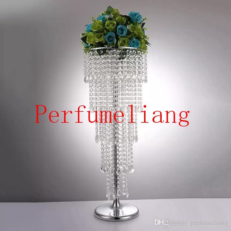 80 cm Acryl Kristall Blume Rack Hochzeit Herzstück / tischplatte vase 5-tier straße führt Für Party Dekoration