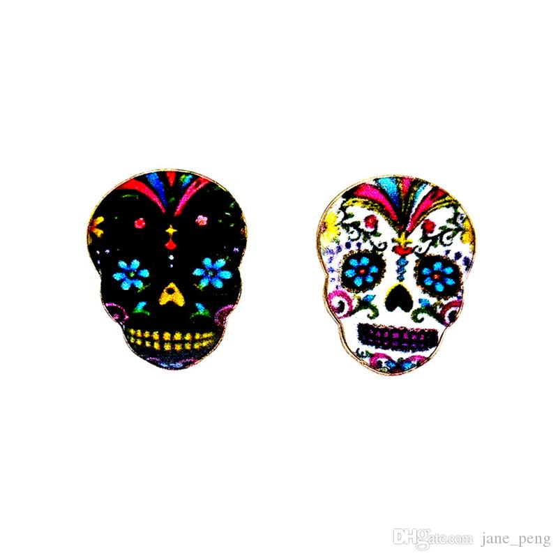 Black Skull Badge Small Size Cute Alloy Enamel Brooches Pins Mini Lapel Pins For Mens Women Clothes Suit Shirt Collar Decor Accessories