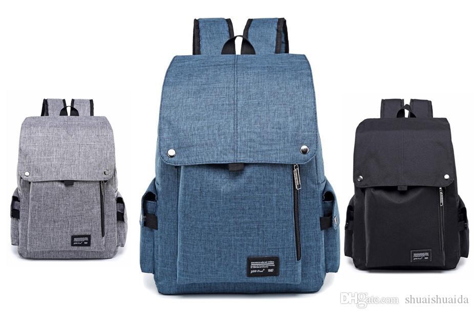 2018 компьютер сумка Спорт на открытом воздухе путешествия Рюкзак школьный рюкзак Рюкзак холст чистый цвет мужчины и женщины школьные сумки Сумка 20-35L A807