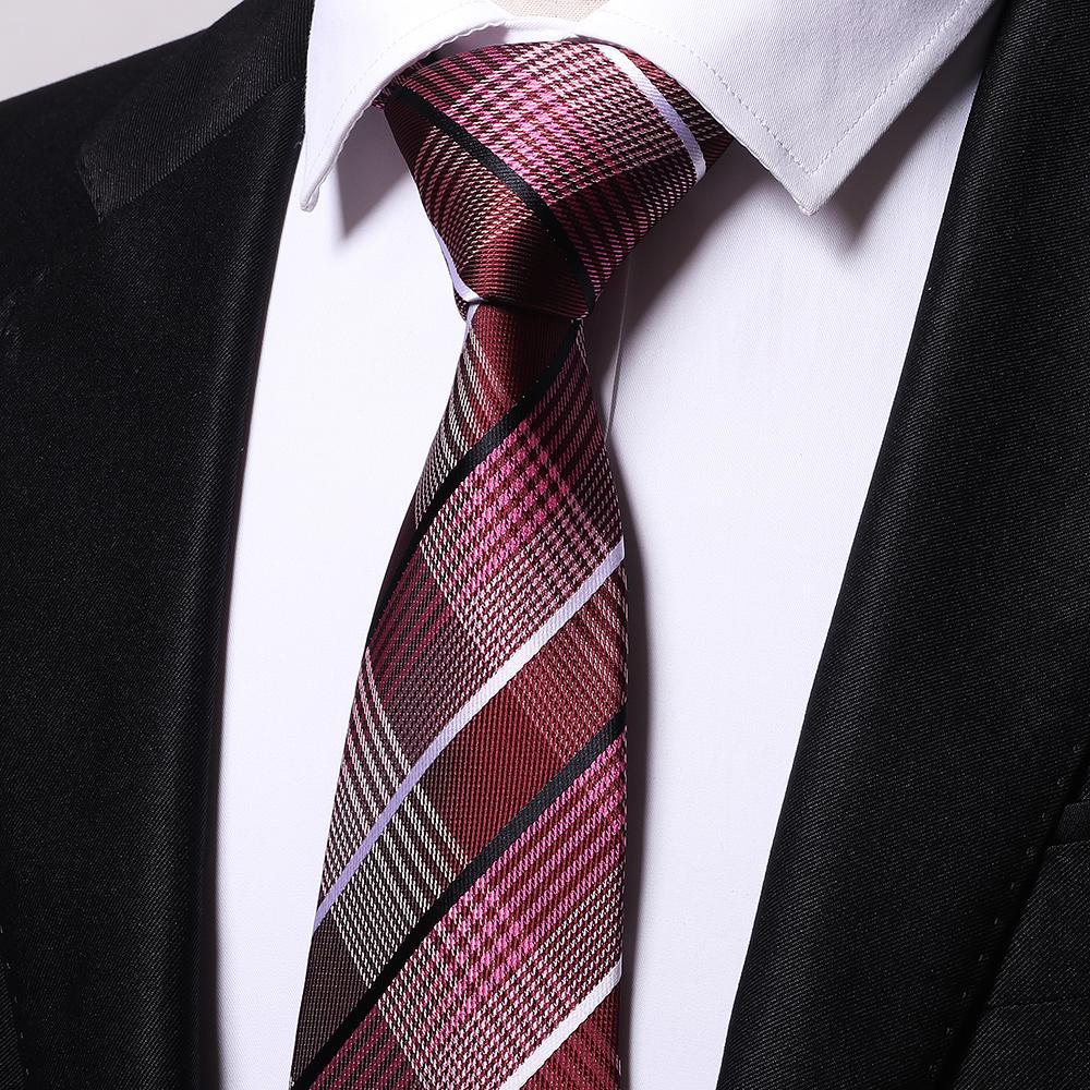 Atacado vinho cruz listras laços homens 2017 casamento cravate jacquard tecido gravata festa de negócios formal presente de aniversário B0006