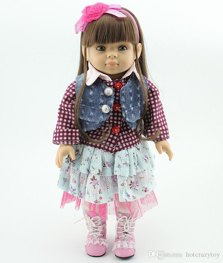 Various Style American girls doll 18 inch High quality full vinyl Baby Fairy Toys DIY America Princess for Children Doll birthday Xmas gifts