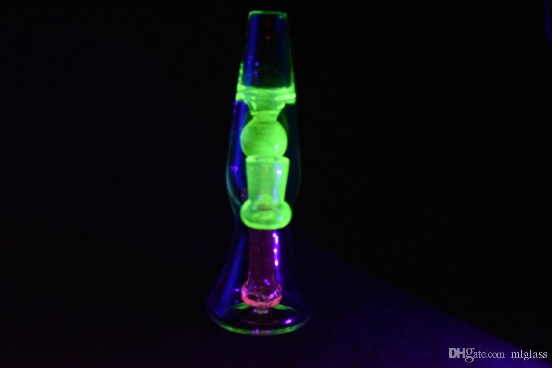 ot Продажа Lava Lamp Design Glass Bongs 8-дюймовый Dab Rig Percolator Bongs 14-миллиметровая женская водопроводная труба
