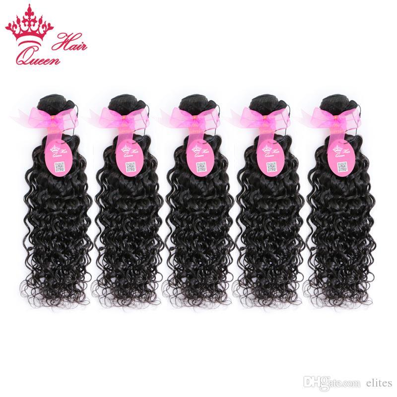 Drottning hår 100% brasiliansk vattenvåg, naturlig våg mänsklig jungfru hår 5pcs mycket, jungfru brasilianskt mänskligt hår