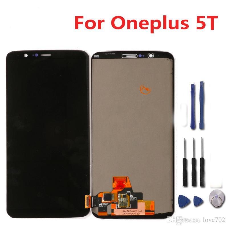 Oneplus 5T LCD Display Touch Screen Test Good Digitizer Screen Glass Panel Accessory Replacement For Oneplus 5T One plus 5T 10 By DHL