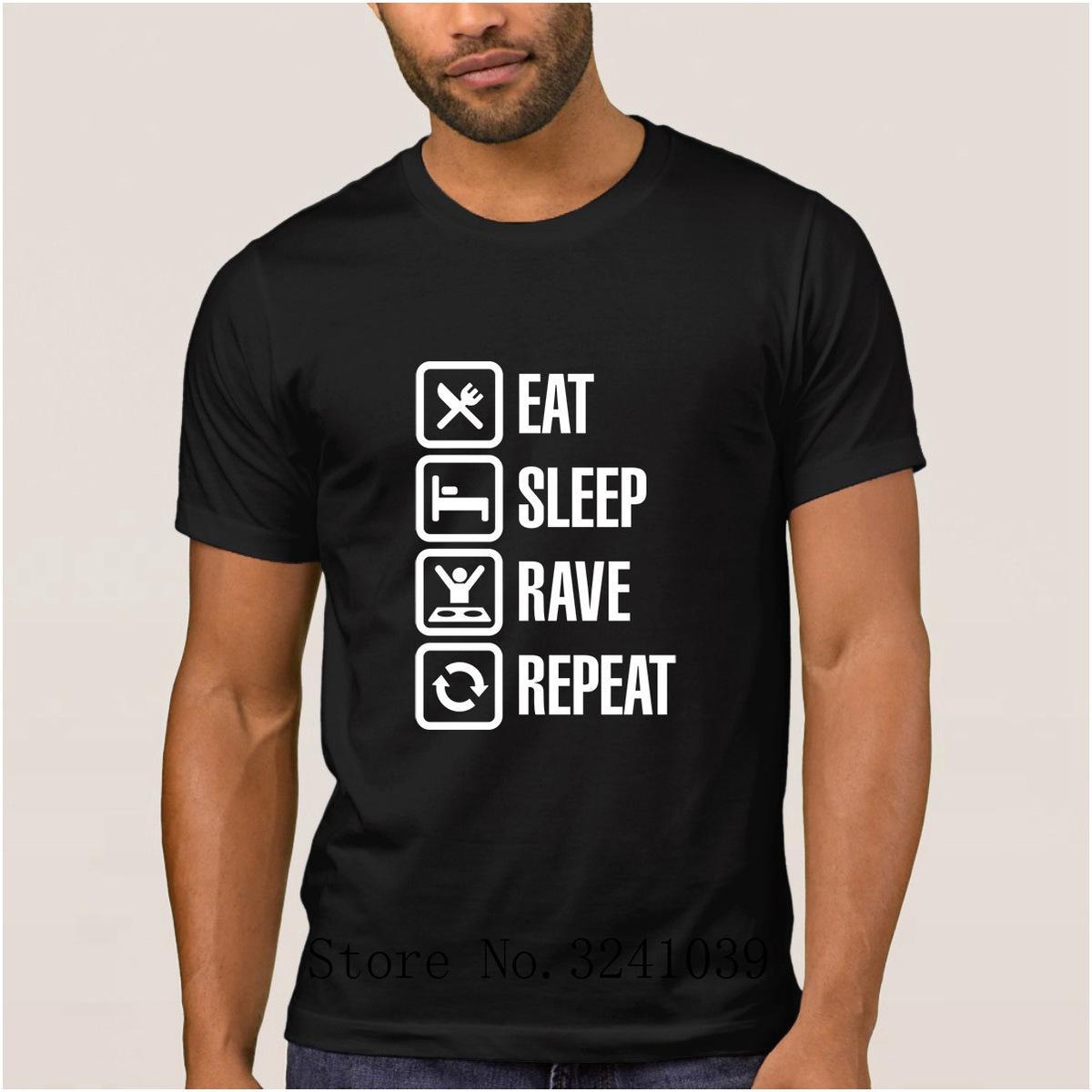 La Maxpa Character fashion eat sleep rave repeat men t shirt summer Free Shipping t-shirt Leisure tee shirt Short Sleeve hip hop