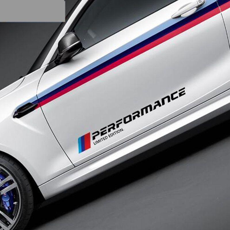 2 pcs / lot New Style Car Styling Stickers Autocollants De Porte De Voiture Side Sticker Édition Limitée Pour BMW E46 e90 e39 f30 f34 f10 e70 e71