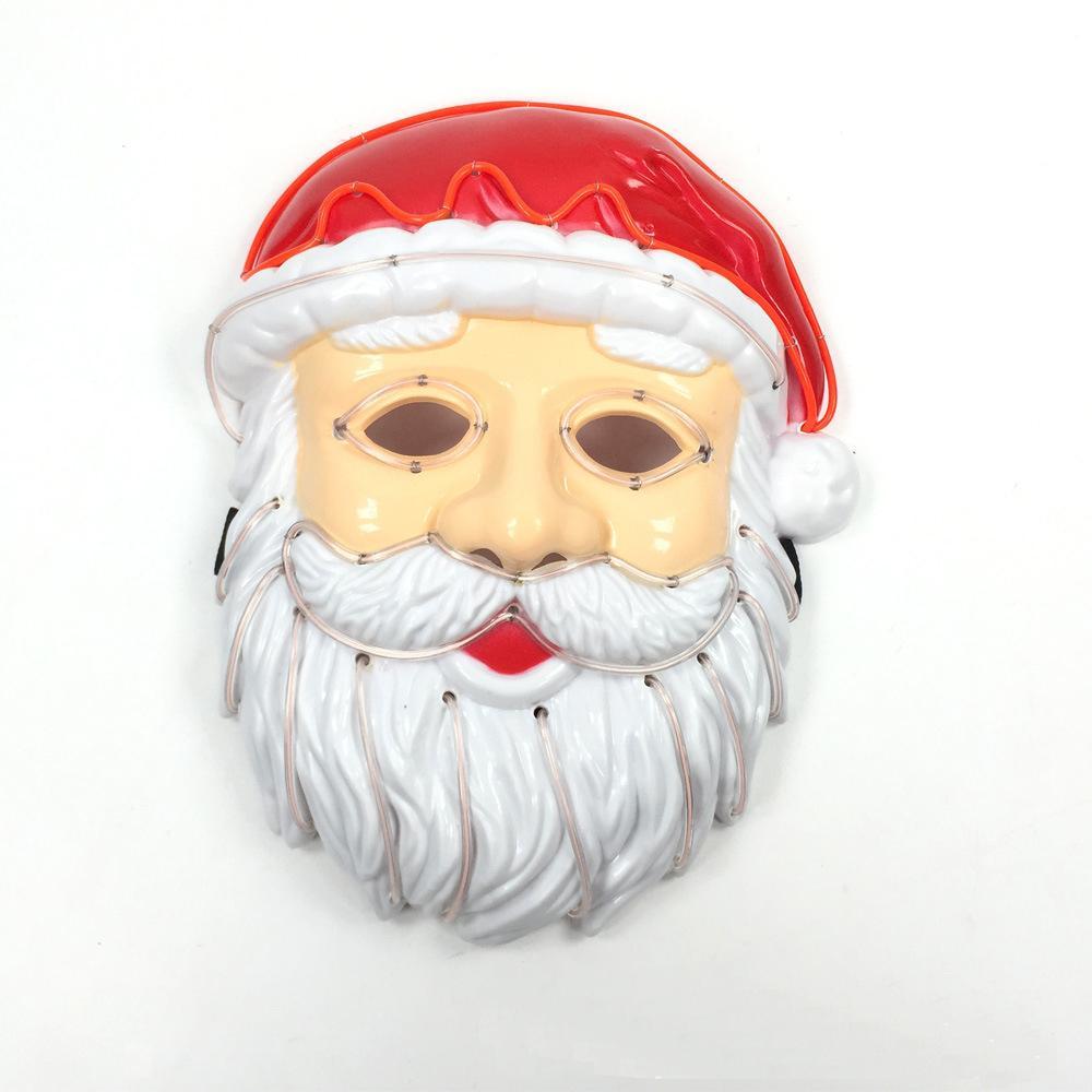 Christamas Great Santa Año Davidad Máscara iluminar el cosplay LED Party Purge Purge Elección Claus Máscara Festival Ball traje Las máscaras HEOUN
