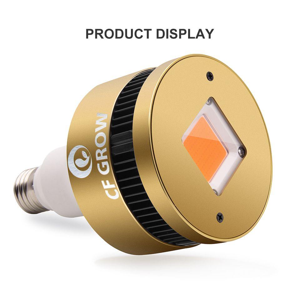 110V/220V PAR 150W COB LED Grow Light 27 Socket Base Full Spectrum Grow Lamp for Indoor Plants Small Growing Tent