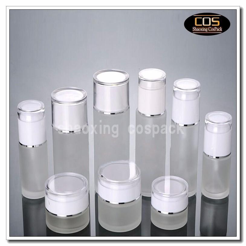 JGX21-50g Glass Cream Container with white cap (5)