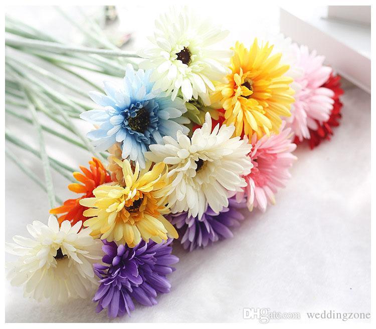 Silk Transvaal Daisy 23 Colors 55 cm Barberton Daisy Artificial Flower Sun Flower For Wedding Decoration Home Decoration