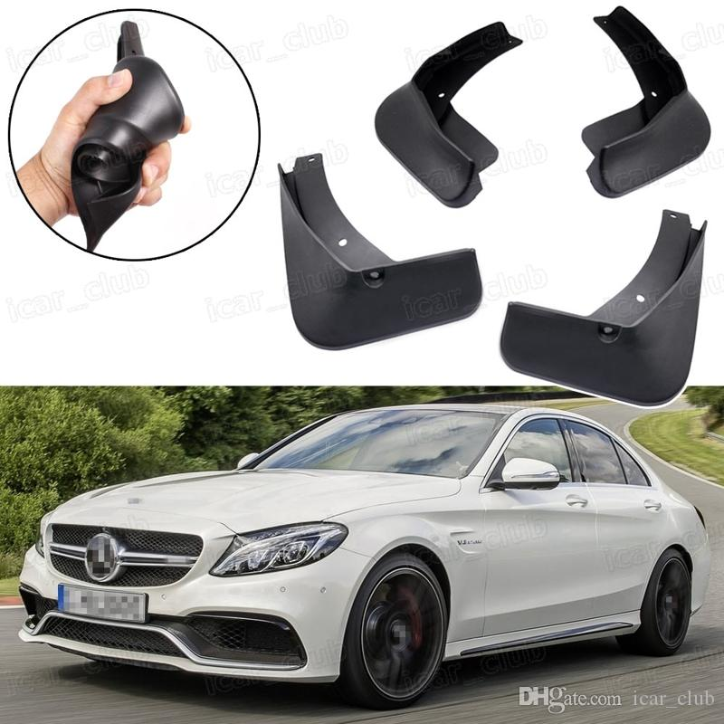 Nuevo 4pcs Car Mud Flaps Splash Guard Guardabarros guardabarros aptos para Mercedes-Benz C63 AMG 2015-2017 16