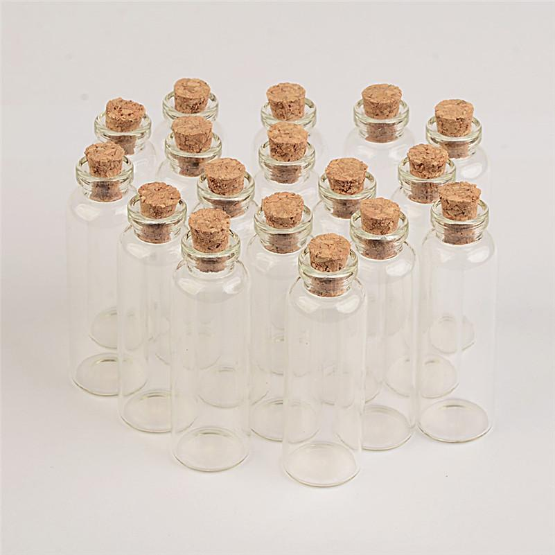 Mini Clear Glass Bottles With Cork Small Vials Jars Containers Cute Crafts Bottles Jars Wishing Bottle