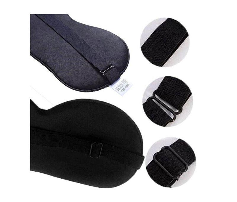Silk eye mask Sleep Rest Eye Mask eye shade cover Padded Shade Cover Travel Relax DHL free shipping