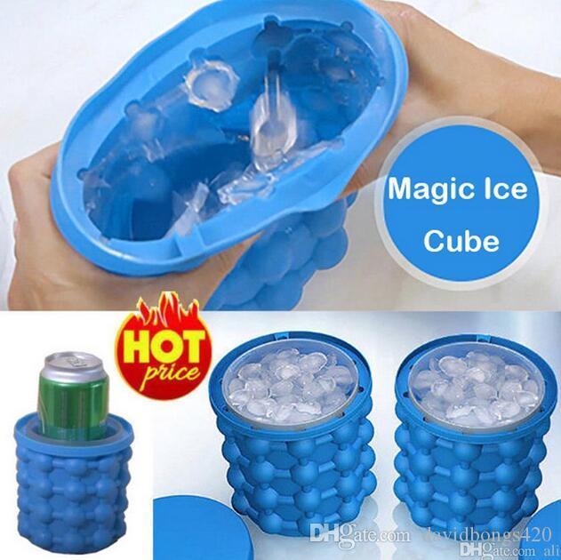 13 * 14 cm Silikon Buz Küp Makinesi Genie Devrimci Uzay Tasarrufu Ice Cube Makinesi Buz Genie Mutfak Araçları