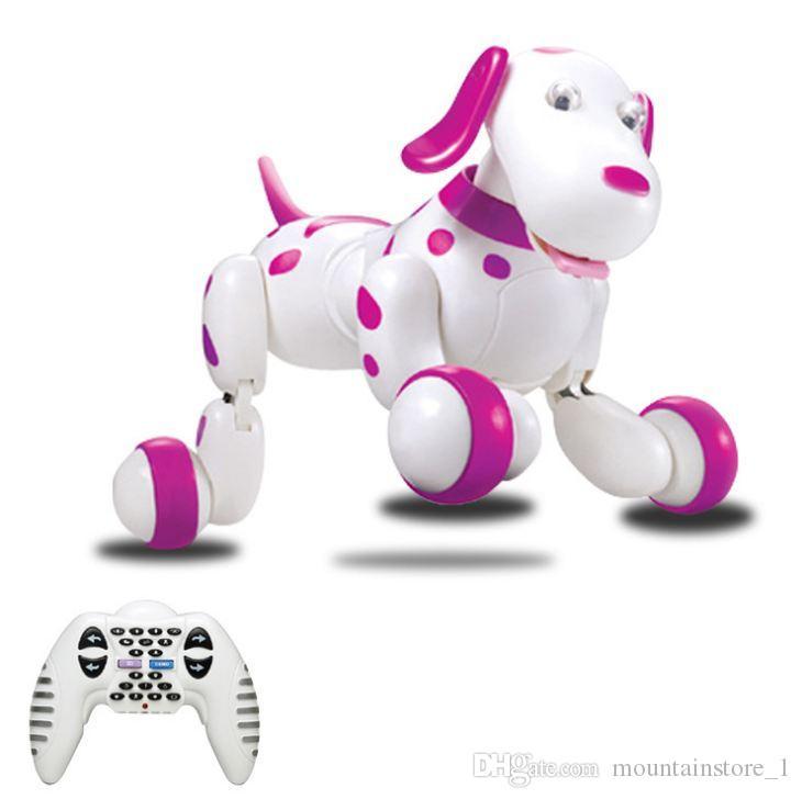 RC 산책 강아지 2.4 G 무선 원격 제어 스마트 강아지 전자 애완 동물 교육 어린이 장난감 로봇 개 어린이를위한 좋은 선물