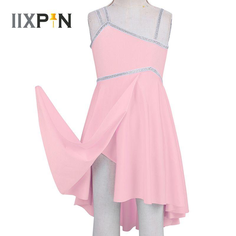 Girl Dancewear Latin Ballet Dancing Dress Leotard Gymnastics Skirt Or Stocking