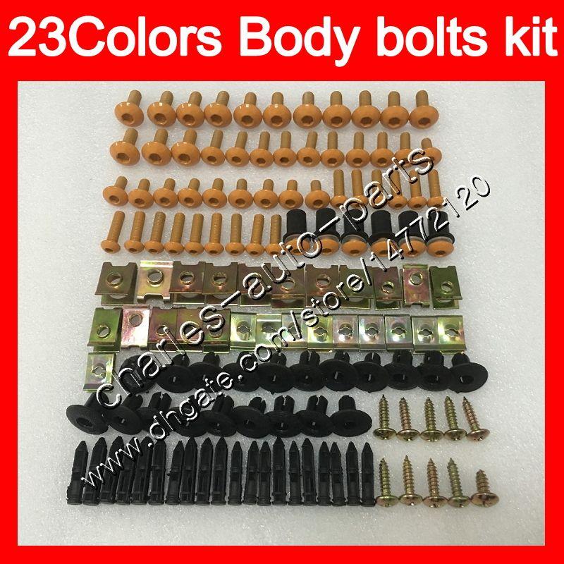 Carenagem parafusos kit parafuso completo para a Kawasaki ZX 300R 13 14 15 300 EX ZX300R EX300 2013 2014 25Colors kit parafuso 2015Body Porcas parafusos porca
