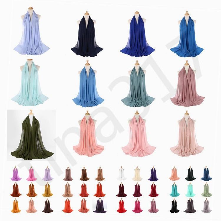 Fashion Monochrome Nation Pearl Chiffon Bubble Towel Scarf Hot Sale High-quality Muslim Woman Cover Scarf Shawl T7C069