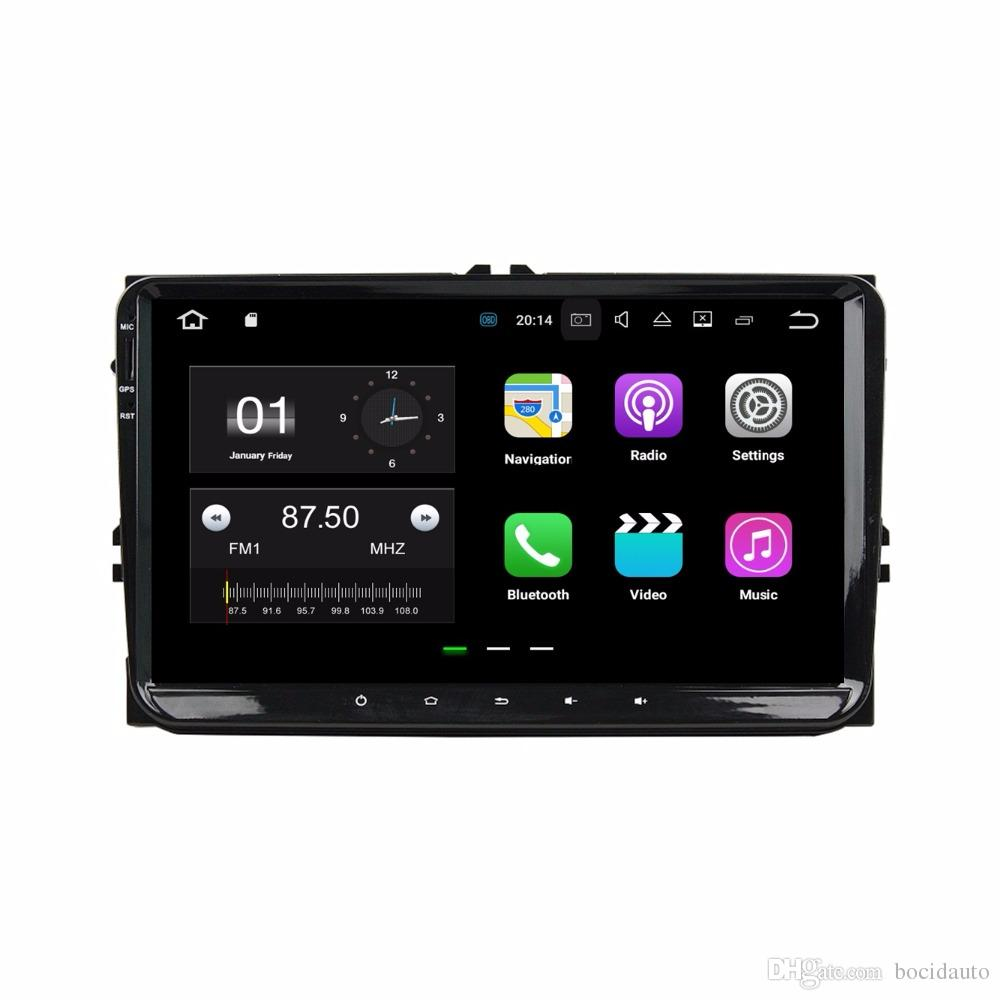 "2GB RAM Quad Core 9"" Android 7.1 Car DVD Player for VW Volkswagen Golf Polo Passat CC Tiguan Touran Bora Seat Touareg Skoda"