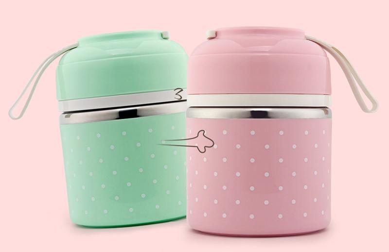 Portable Japanese Lunch Boxs Thermal Insulation Food Containers Stainless Steel Metal Plastic School Kids Bento Box Dinner Sets7