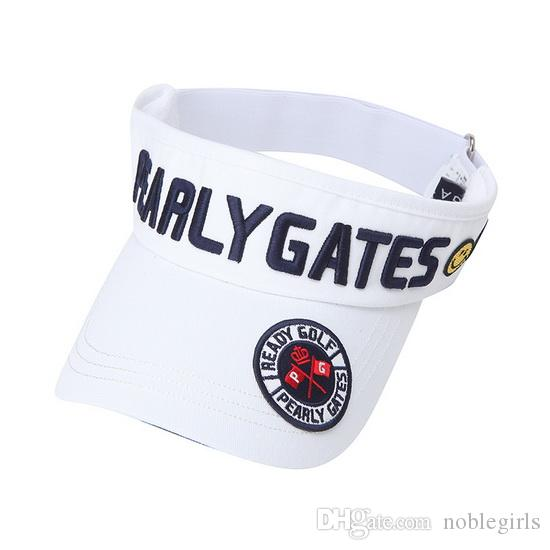 Pearly Gates Golf Cap Embroidery Cap Enrejado Golf Casquette Hombres y Mujeres Summer Sport Caps Transpirable Sun Hat
