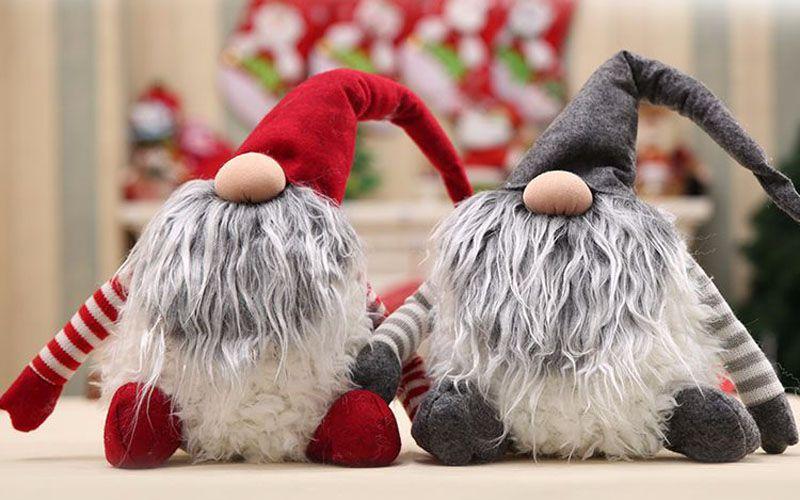 New handmade dos desenhos animados decoração de natal papai noel boneca de pelúcia presente de natal sem rosto boneca criativo presente de aniversário da criança toys para venda