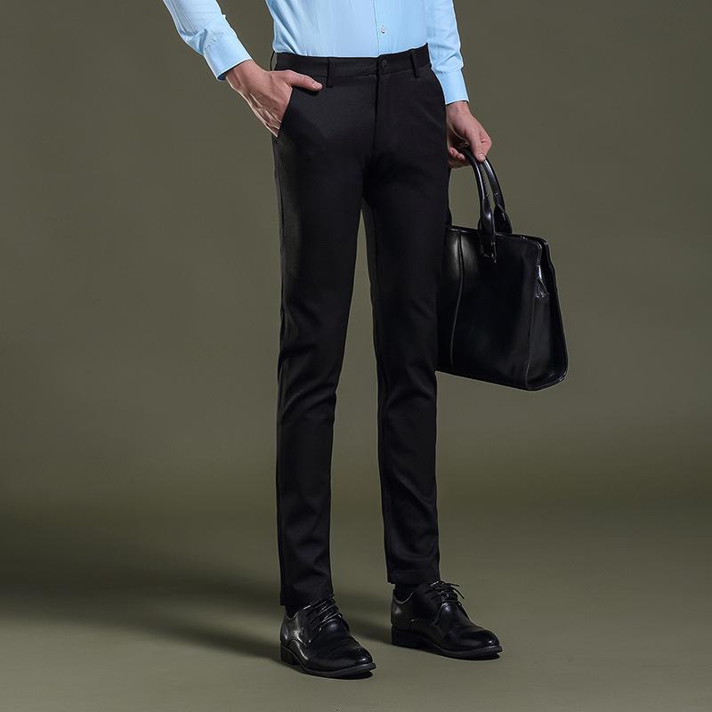 2017 Hommes Robe Pantalon Pantalon Formel Slim Fit Mariage Hommes Noir Costume D'affaires Décontracté Hommes Robe Pantalon Parfum Masculino