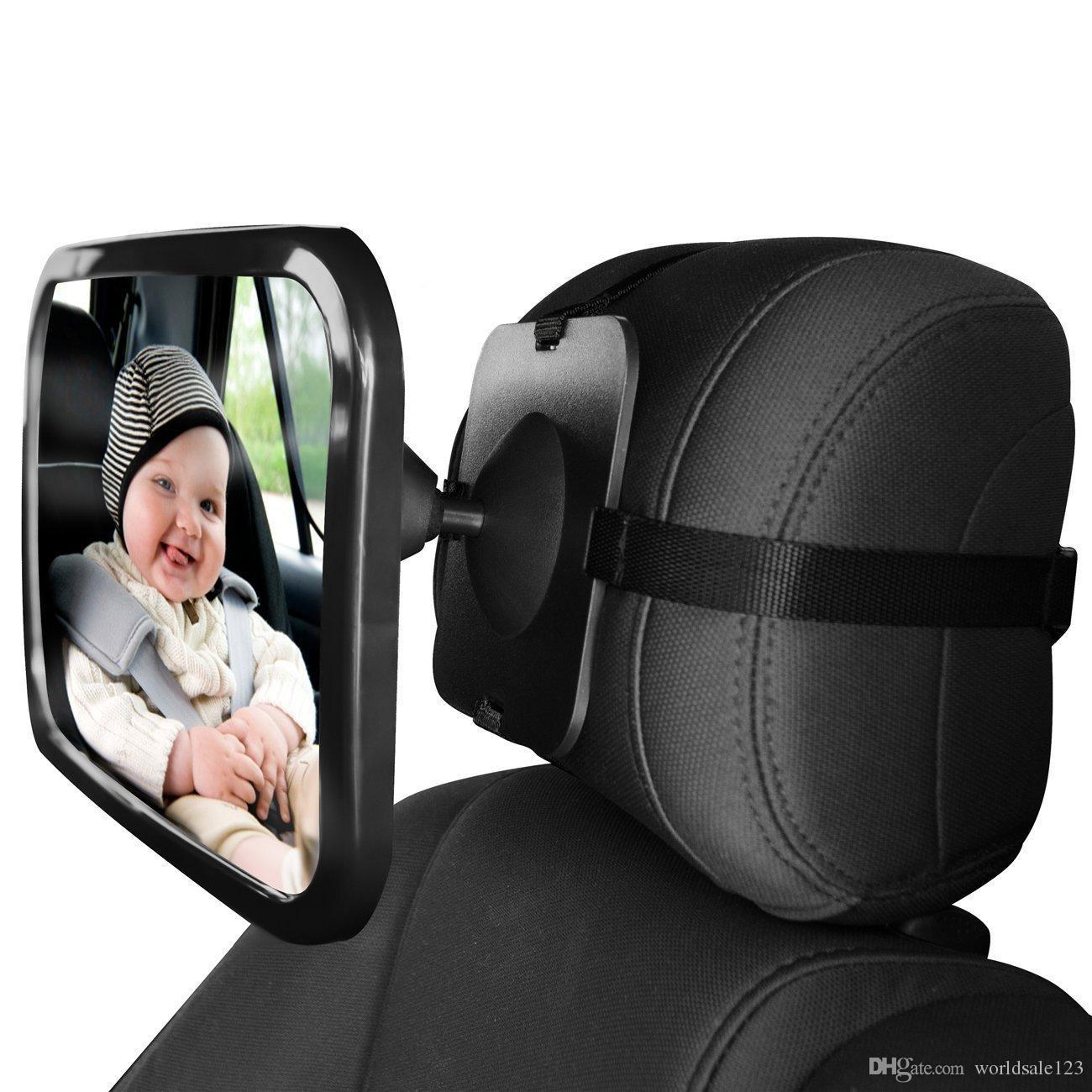 Interior del coche Espejo retrovisor Auto Safety Easy View Asiento trasero Espejo ajustable Orientado al beb/é Vista posterior Acr/ílico Accesorios para autos