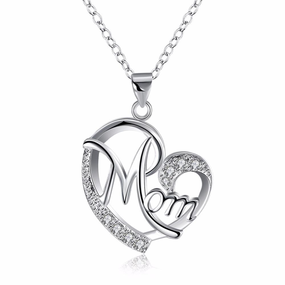 """Momia del corazón collar de encanto 18/"""" Cadena de Plata en bolsa de regalo"""